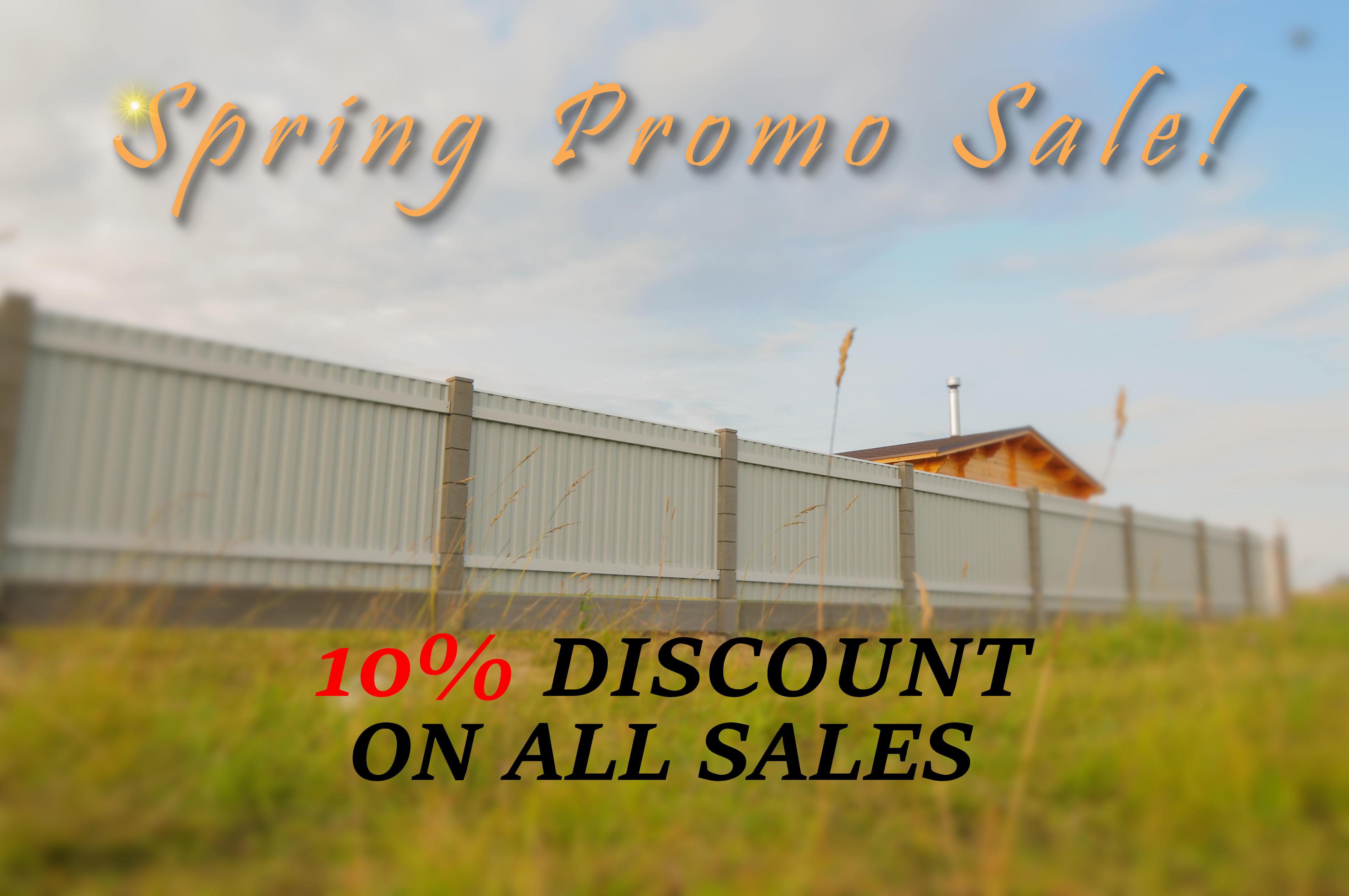 Fencing Service and Installation Spring Sale